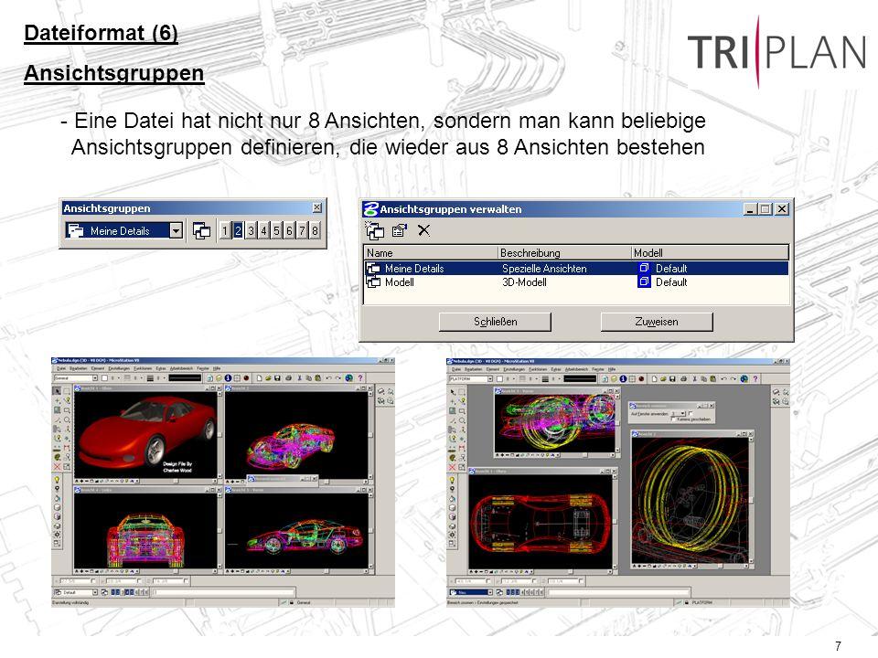 8 DWG in V8 Dateiformat (7) DWG / DGN DWG in AutoCad200 Live !
