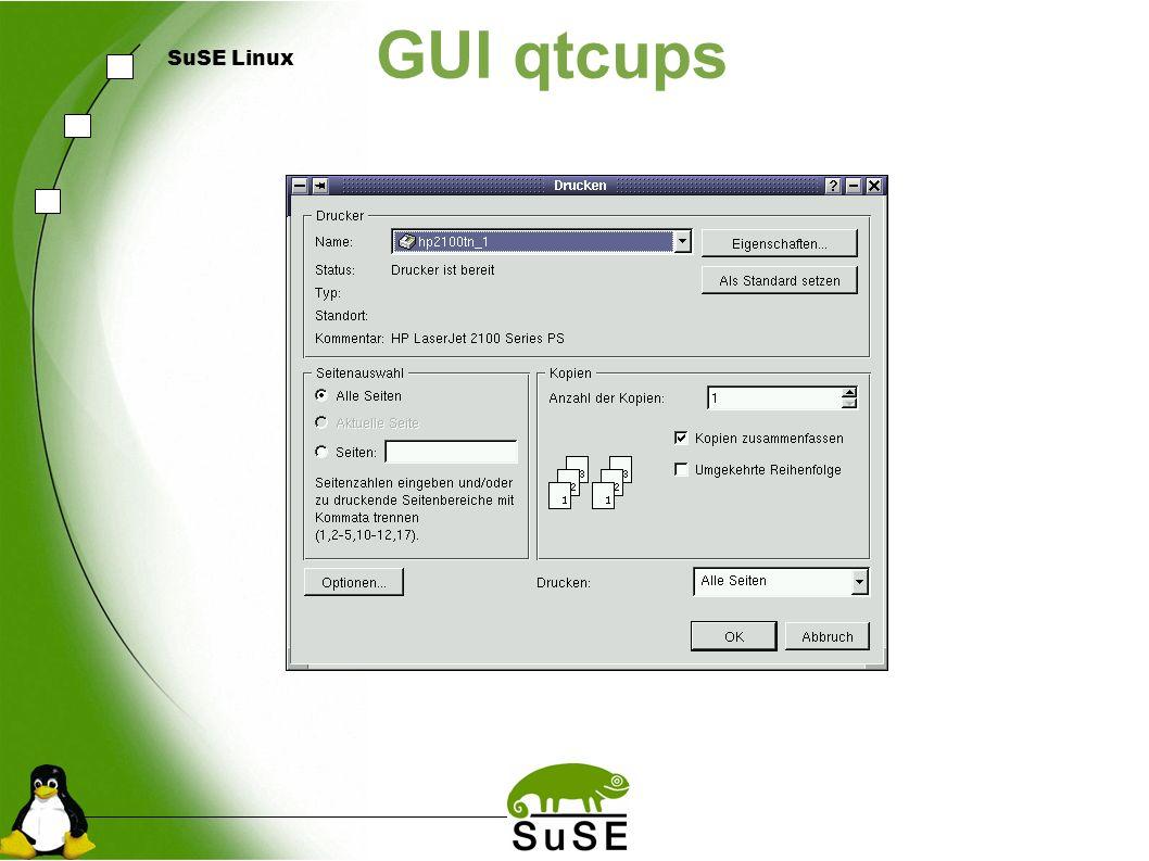 SuSE Linux GUI qtcups