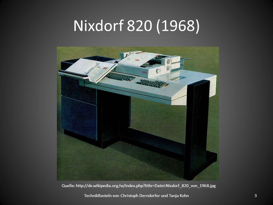 IBM 5150 PC (1981) TechnikBasteln von Christoph Derndorfer und Tanja Kohn4 Quelle: http://en.wikipedia.org/wiki/File:IBM_PC_5150.jpg