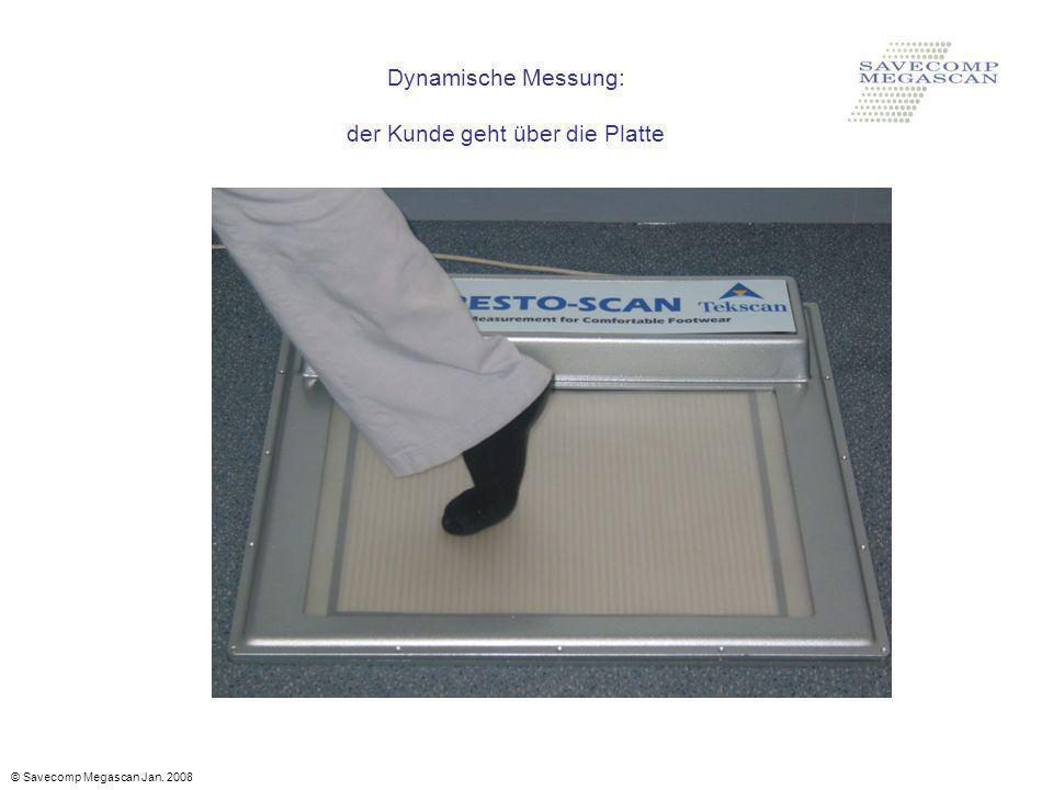 Dynamische Messung: der Kunde geht über die Platte © Savecomp Megascan Jan. 2008