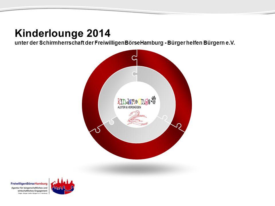 Kinderlounge 2014 unter der Schirmherrschaft der FreiwilligenBörseHamburg - Bürger helfen Bürgern e.V. SCENE