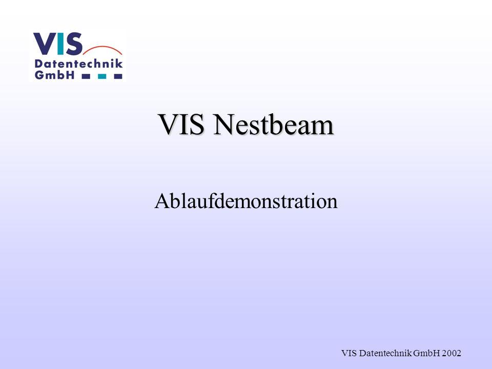VIS Datentechnik GmbH 2002 VIS Nestbeam Ablaufdemonstration