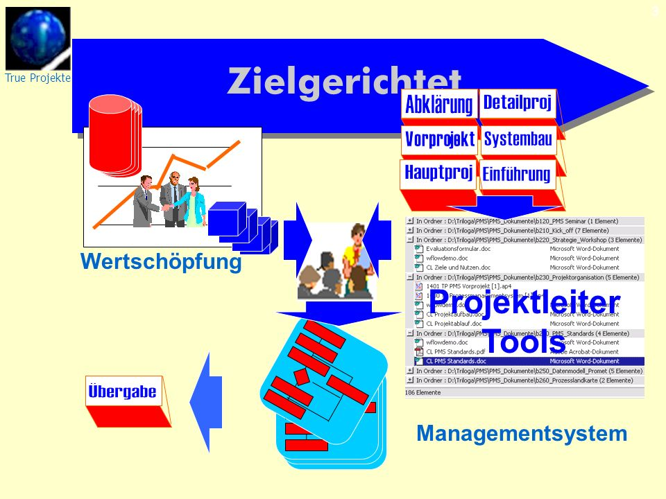 True Projekte 3 Zielgerichtet Managementsystem Wertschöpfung Projektleiter Tools