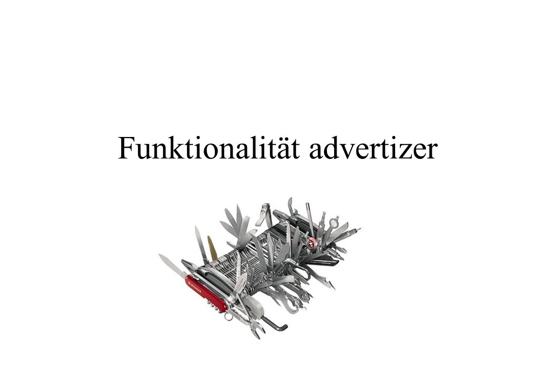 Funktionalität advertizer