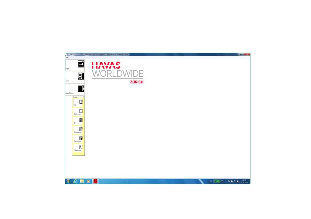 Individuell gestaltbare Toolbars Kunden Team Arbeitsschritte