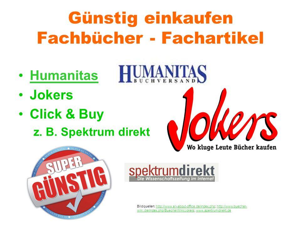 Günstig einkaufen Fachbücher - Fachartikel Humanitas Jokers Click & Buy z.