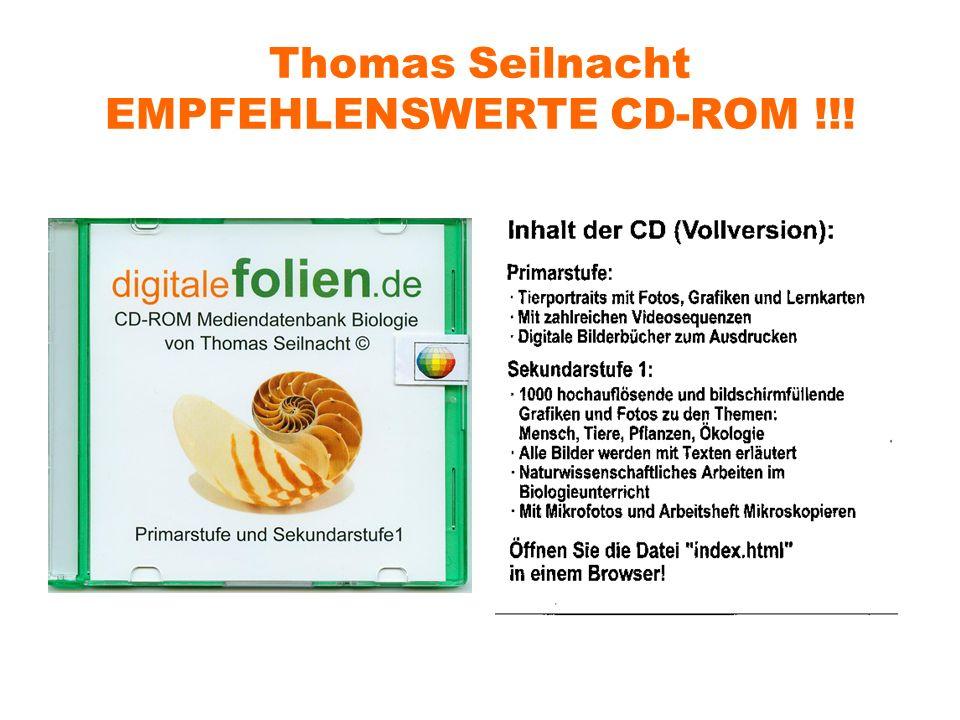 Thomas Seilnacht EMPFEHLENSWERTE CD-ROM !!!