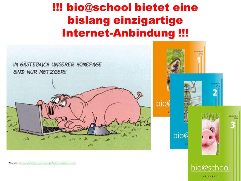 !!.bio@school bietet eine bislang einzigartige Internet-Anbindung !!.