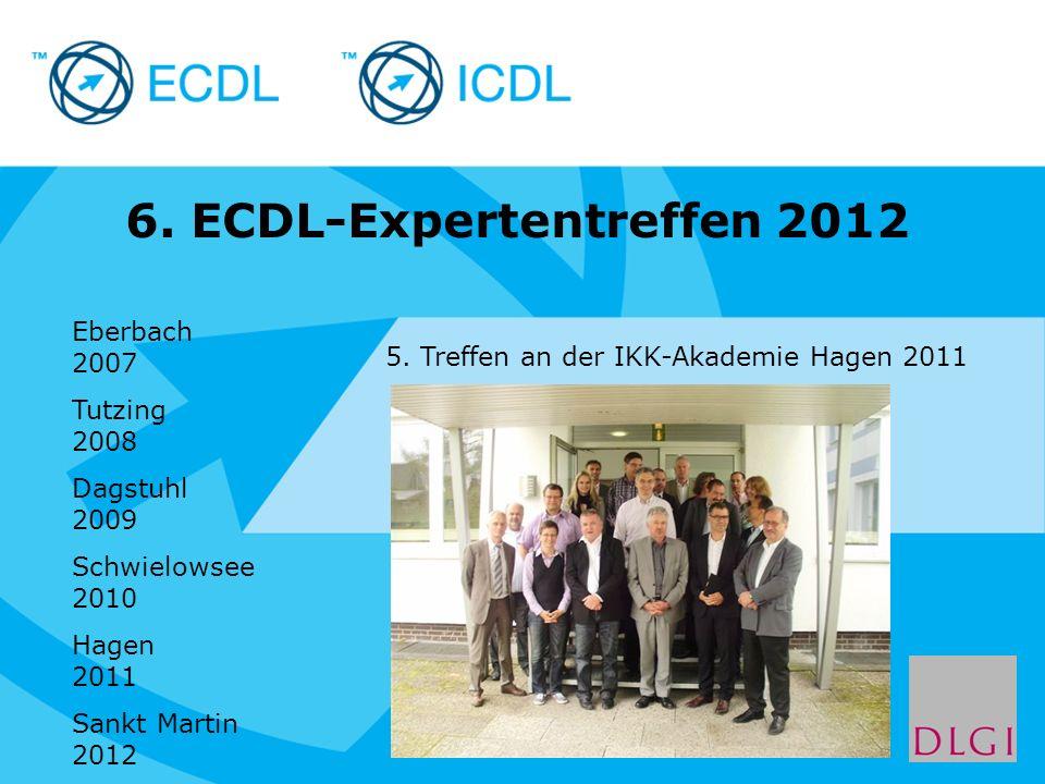 Placeholder for licensee logo 6.ECDL-Expertentreffen 2012 5.