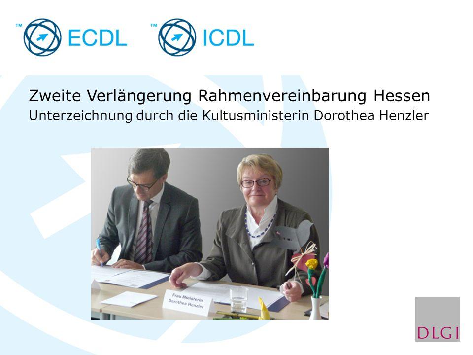 Zweite Verlängerung Rahmenvereinbarung Hessen Unterzeichnung durch die Kultusministerin Dorothea Henzler