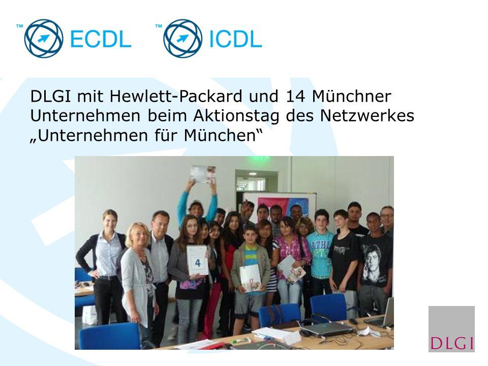 DLGI mit Hewlett-Packard und 14 Münchner Unternehmen beim Aktionstag des Netzwerkes Unternehmen für München