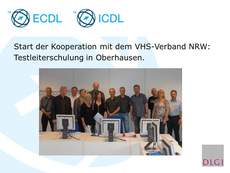 Start der Kooperation mit dem VHS-Verband NRW: Testleiterschulung in Oberhausen.