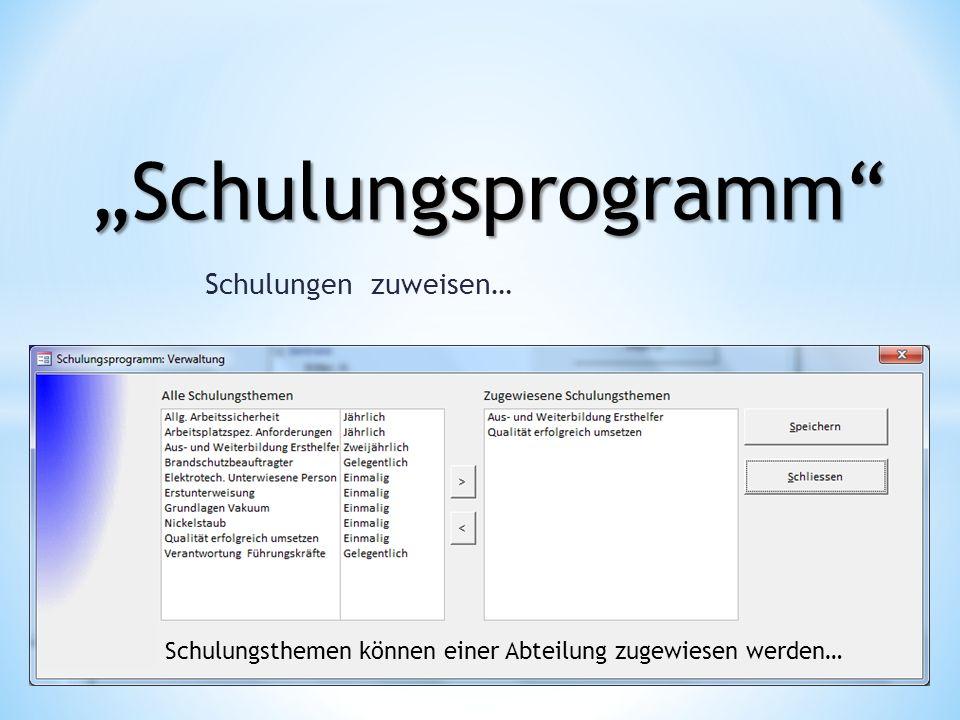 Schulungsprogramm