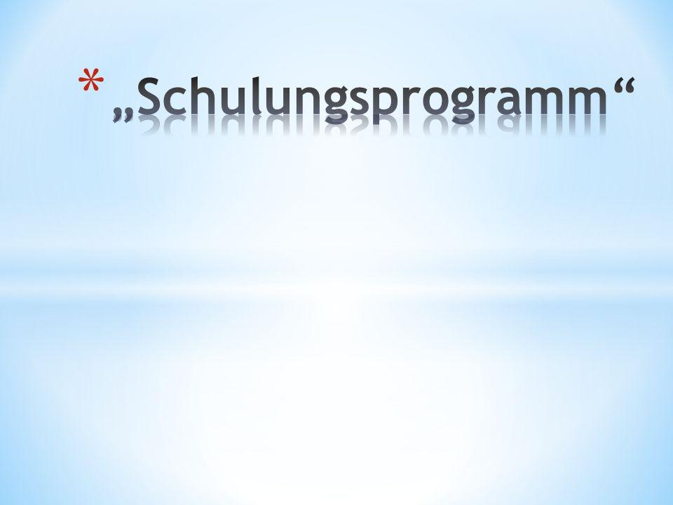 Ein Schulungsprogramm für kann für Abteilungen und/oder Mitarbeiter angelegt werden.