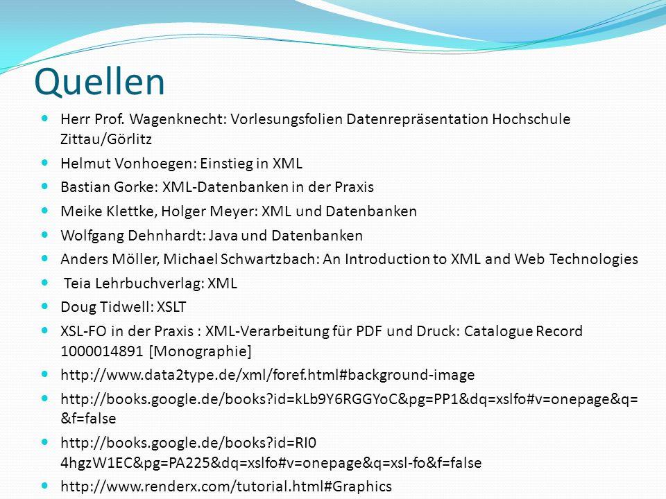 Quellen Herr Prof.