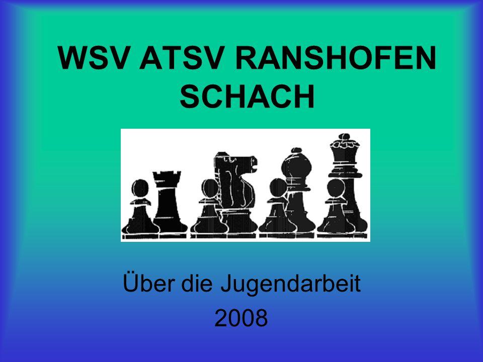 Jugendfreundlicher Schachverein So wie im Vorjahr erreichte Ranshofen auch für 2007 den vierten Rang beim ÖSB Bewerb Österreichs jugendfreundliche Schach- vereine.