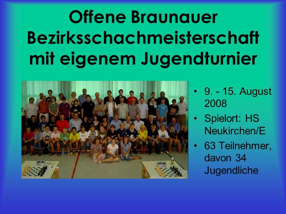 Offene Braunauer Bezirksschachmeisterschaft mit eigenem Jugendturnier 9.