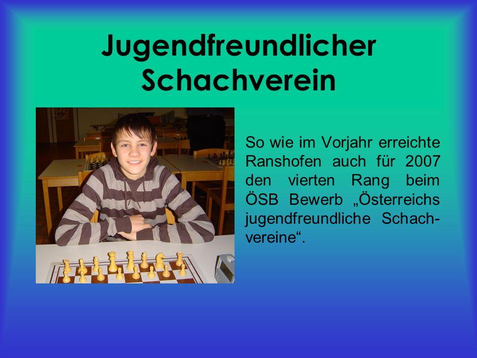 Teilnahme an Camps und Turnieren Neujahrsturnier in Wien bei Harald Schneider-Zinner Schwarzacher Open Österreichische Schnellschach- und Blitzmeisterschaften in Hartberg Aschacher Open 7.