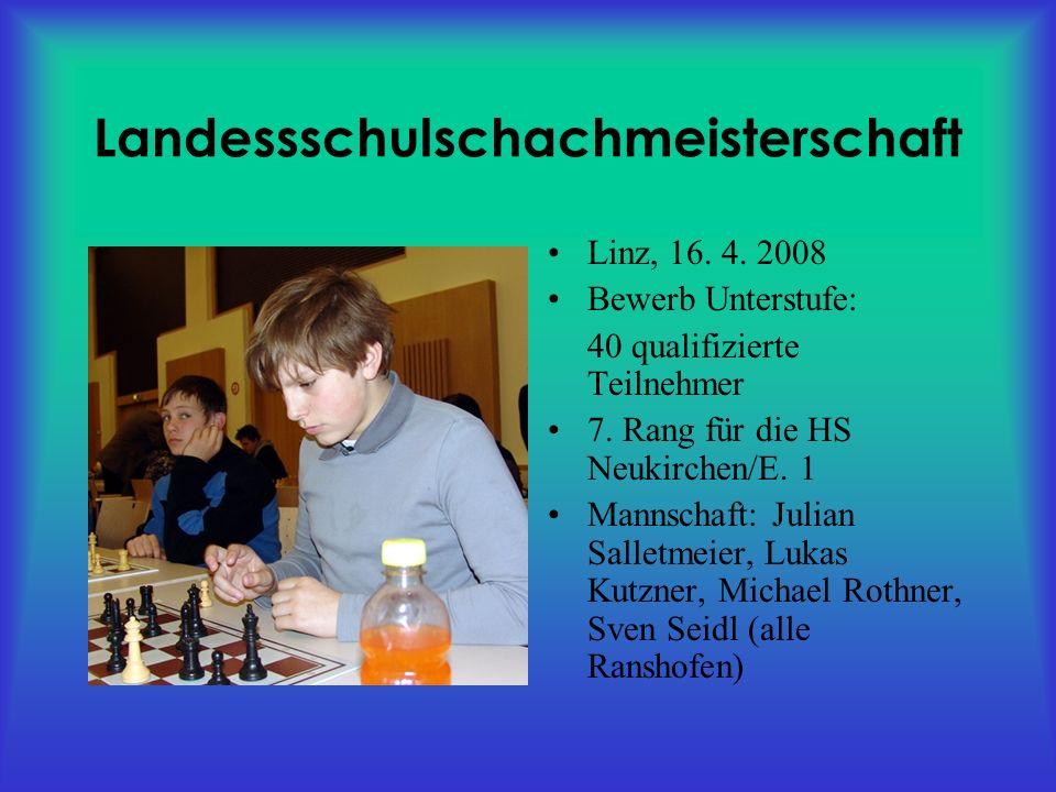 Landessschulschachmeisterschaft Linz, 16. 4.