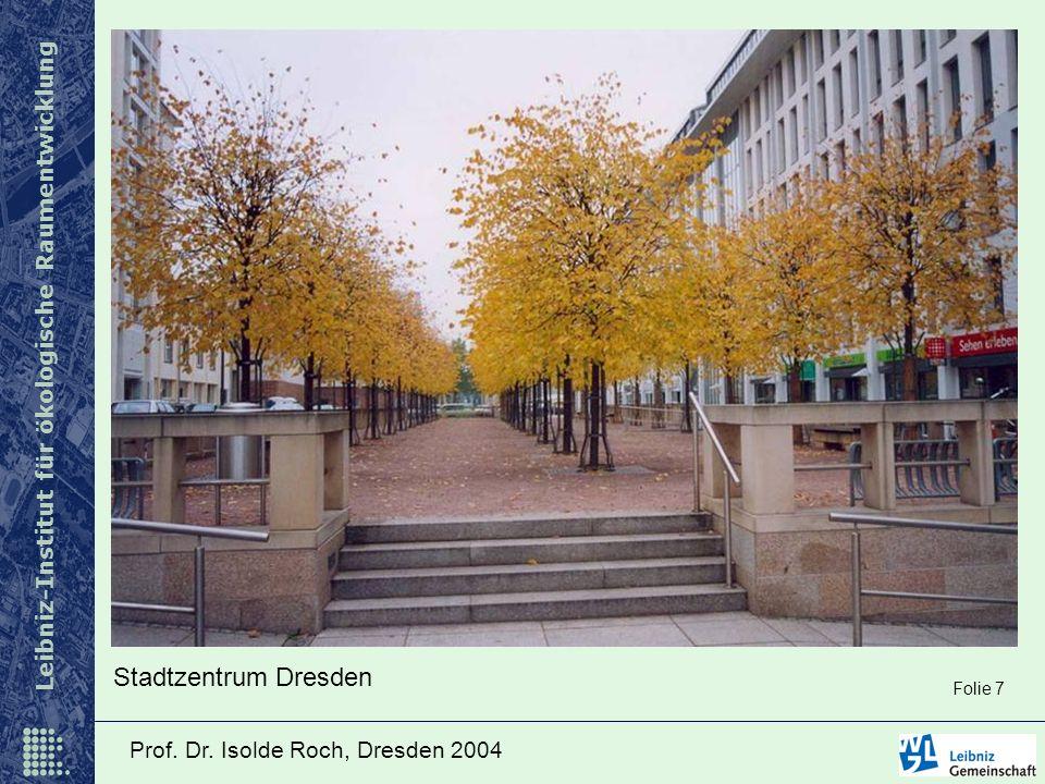 Leibniz-Institut für ökologische Raumentwicklung Prof. Dr. Isolde Roch, Dresden 2004 Stadtzentrum Dresden Folie 7