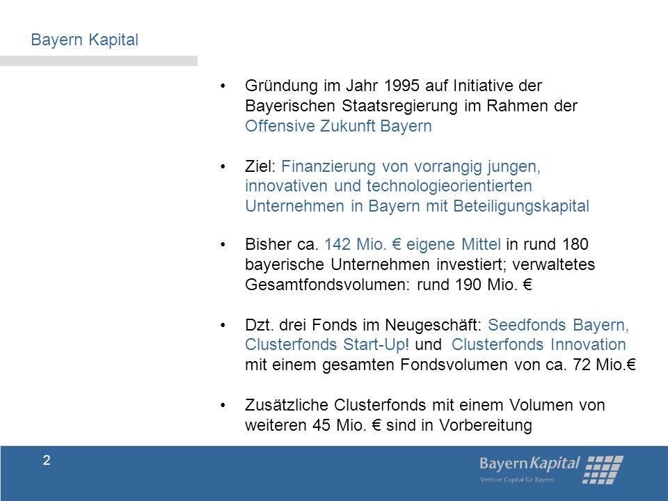 Roman Huber Geschäftsführer Rudolf Mayr Geschäftsführer Anschrift: Bayern Kapital GmbH Ländgasse 135 a 84028 Landshut Telefon: 0871 92325 - 0 Fax: 0871 92325 - 55 Homepage: www.bayernkapital.de E-Mail: info@bayernkapital.de