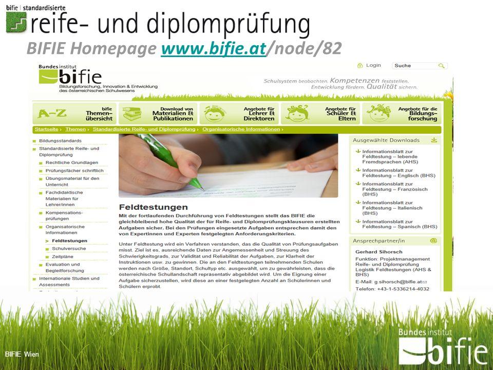 BIFIE Wien BIFIE Homepage www.bifie.at/node/82www.bifie.at