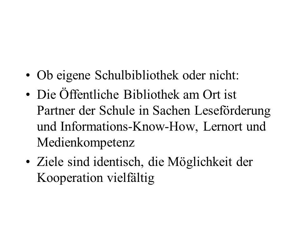 Benutzeranteil der Kinder und Jugendlichen an der Gesamtbenutzerzahl Umfrage im Regierungsbezirk Chemnitz: –55 beteiligte Bibliotheken In 4 ÖB unter 25 % In 33 ÖB bis 50 % In 18 ÖB über 50 % bis 77 %