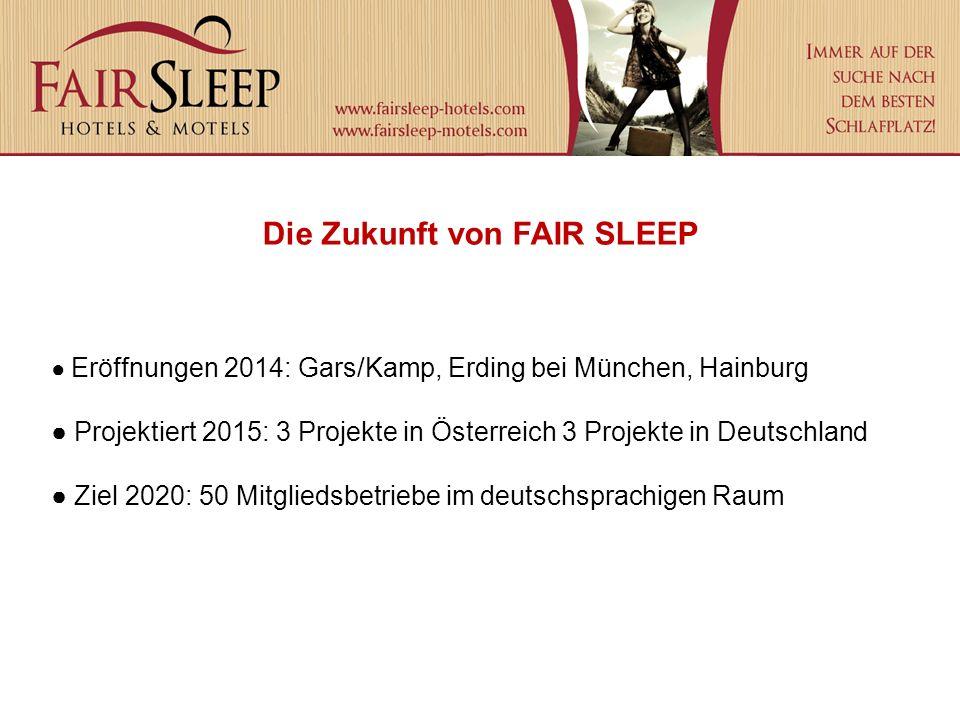 Eröffnungen 2014: Gars/Kamp, Erding bei München, Hainburg Projektiert 2015: 3 Projekte in Österreich 3 Projekte in Deutschland Ziel 2020: 50 Mitglieds
