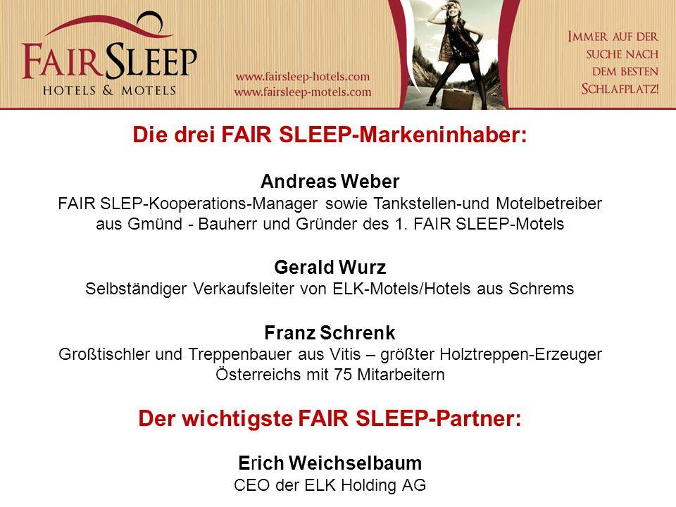 Die drei FAIR SLEEP-Markeninhaber: Andreas Weber FAIR SLEP-Kooperations-Manager sowie Tankstellen-und Motelbetreiber aus Gmünd - Bauherr und Gründer d