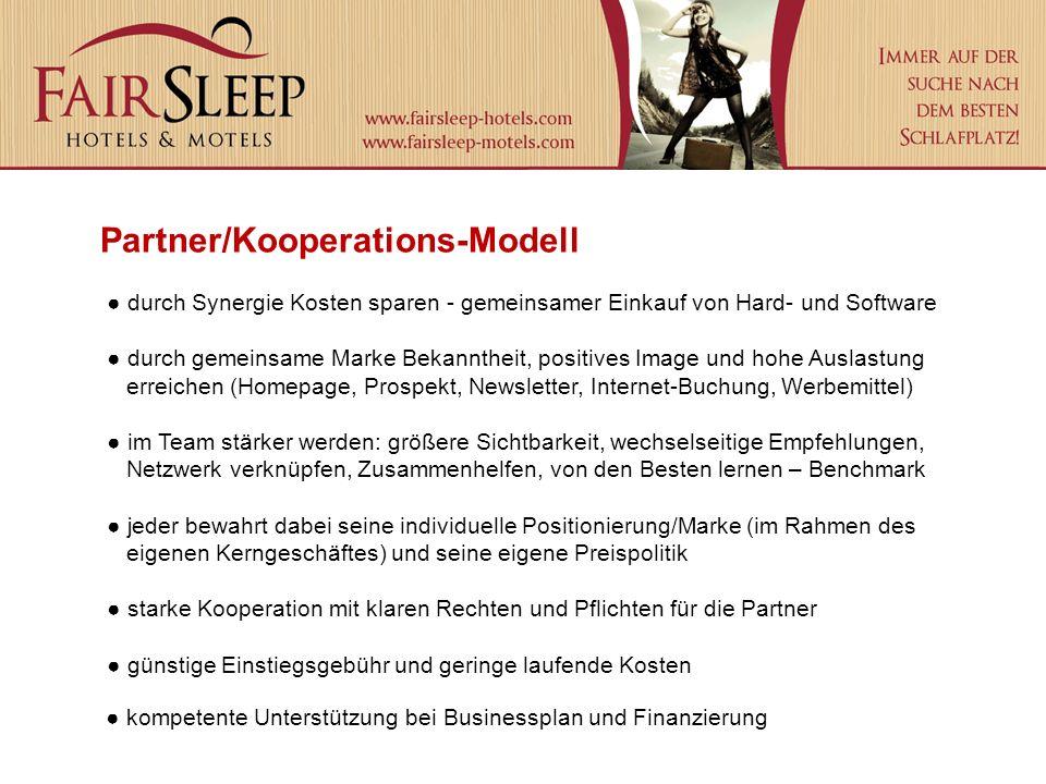 Partner/Kooperations-Modell durch Synergie Kosten sparen - gemeinsamer Einkauf von Hard- und Software durch gemeinsame Marke Bekanntheit, positives Im