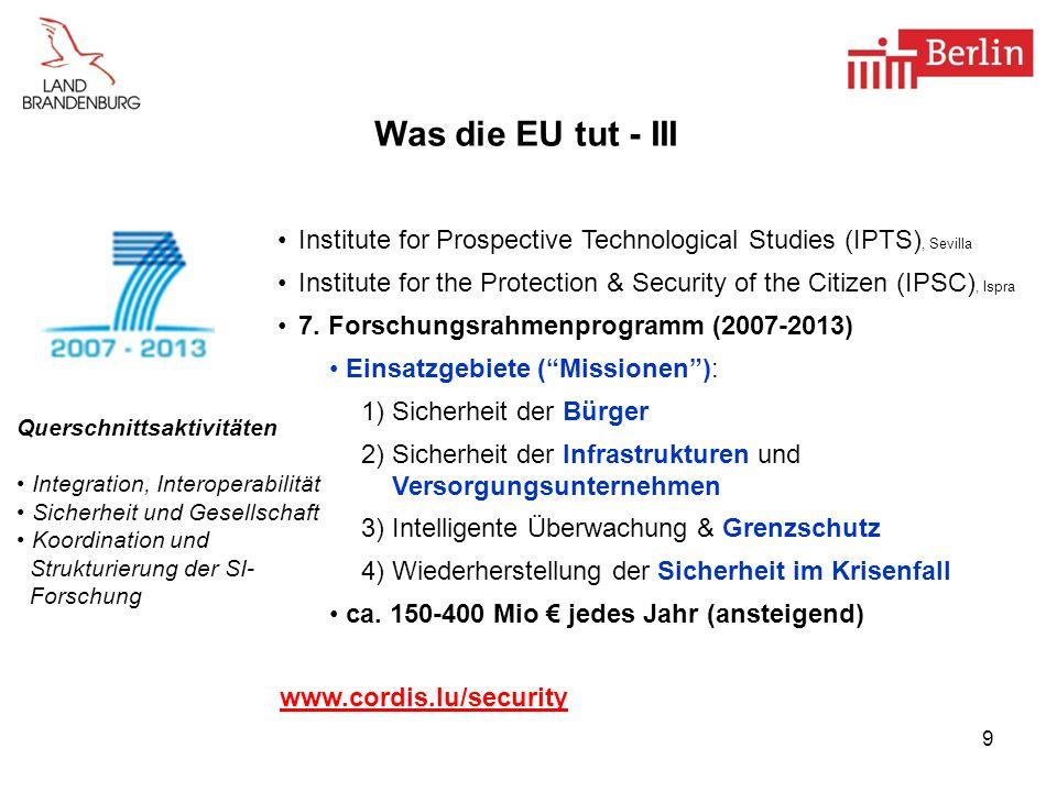 10 Was die EU tut - V Verordnung zur Zivilluftfahrt (EG) Nr.