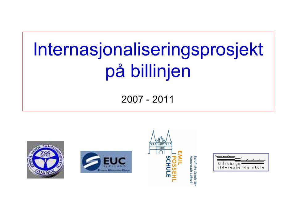 Deltagerne i prosjektet: ERHVERVS UDDANNELSE CENTER i Danmark ZESPÓŁ SZKÓŁ SAMOCHODOWYCH – GDANSK i Polen EMIL POSSEHL SCHULE i Tyskland SLÅTTHAUG VGS Prosjektperioden strekker seg over 4 skoleår, fra 2007/08 til 2010/11 Dette er et såkalt Leonardo da Vinci mobilitetsprosjekt innenfor EUs satsing Lifelong Learning Programme (LLP) Presentasjonen på de neste sidene er laget av Emil Possehl Schule