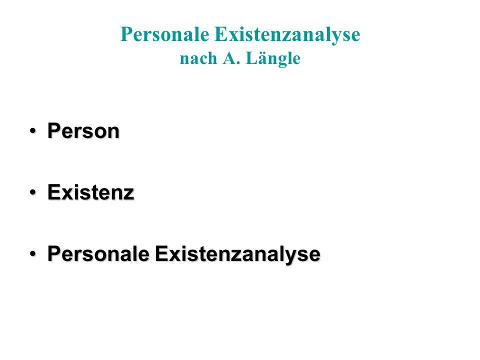 Personale Existenzanalyse nach A.