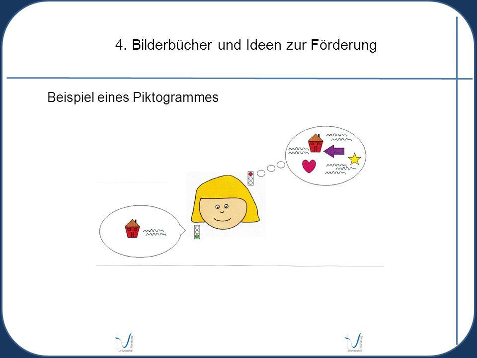 4. Bilderbücher und Ideen zur Förderung Beispiel eines Piktogrammes