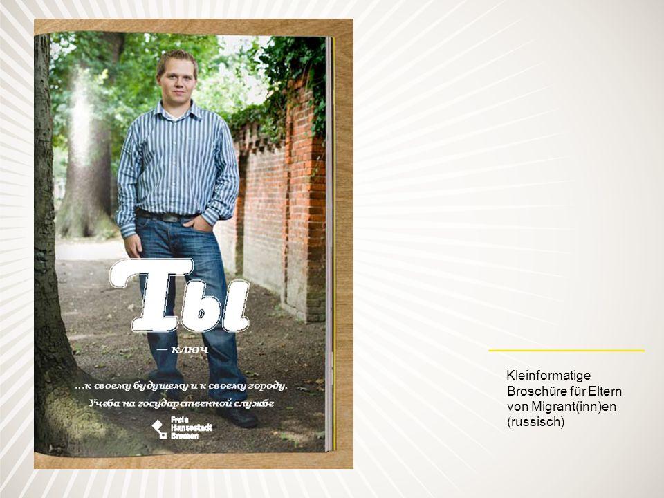Kleinformatige Broschüre für Eltern von Migrant(inn)en (russisch)