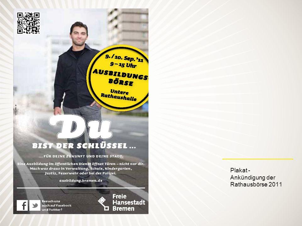 Plakat - Ankündigung der Rathausbörse 2011