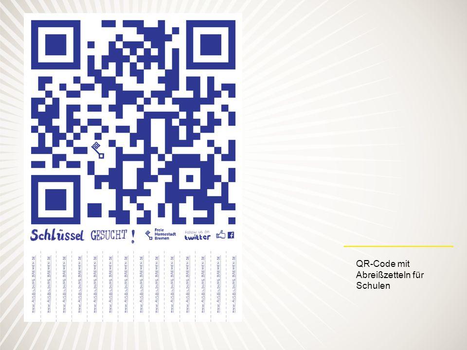 QR-Code mit Abreißzetteln für Schulen