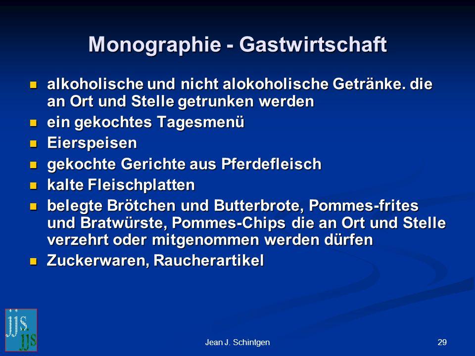 29Jean J. Schintgen Monographie - Gastwirtschaft alkoholische und nicht alokoholische Getränke.