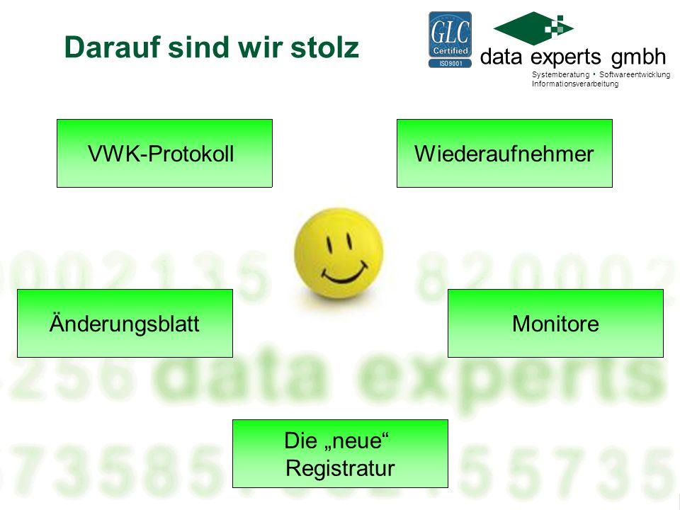 data experts gmbh Systemberatung Softwareentwicklung Informationsverarbeitung Lauter Monitore.