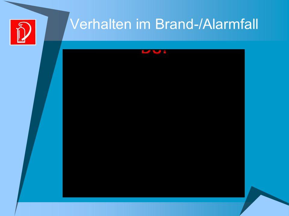 Verhalten im Brand-/Alarmfall