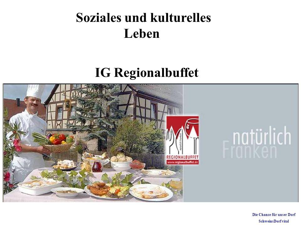 Soziales und kulturelles Leben IG Regionalbuffet Die Chance für unser Dorf SchweinsDorf vital