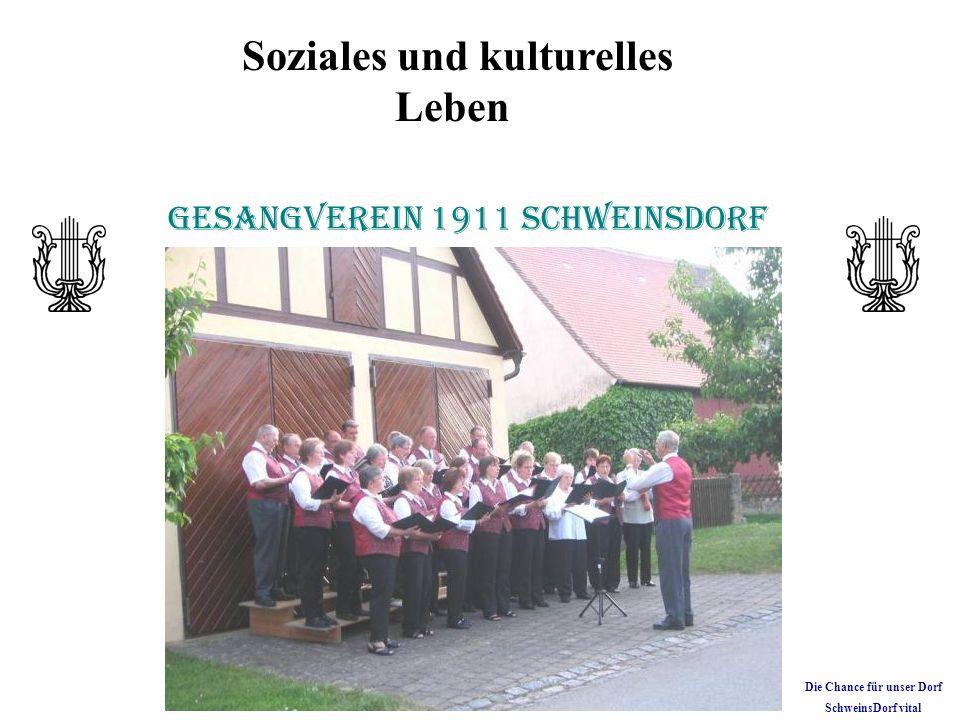 Soziales und kulturelles Leben Gesangverein 1911 Schweinsdorf Die Chance für unser Dorf SchweinsDorf vital