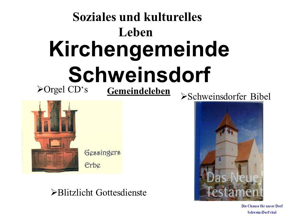 Blitzlicht Gottesdienste Soziales und kulturelles Leben Kirchengemeinde Schweinsdorf Orgel CDs Gemeindeleben Schweinsdorfer Bibel Die Chance für unser