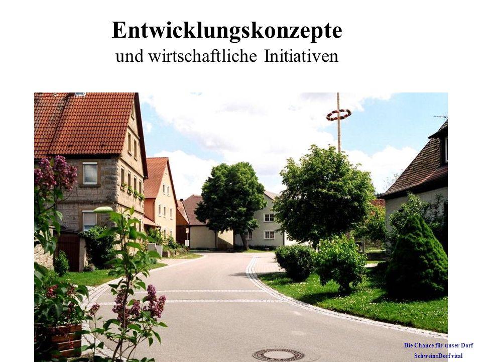 Kirche und Wirtshaus im Dorf Soziales und kulturelles Leben Die Chance für unser Dorf SchweinsDorf vital