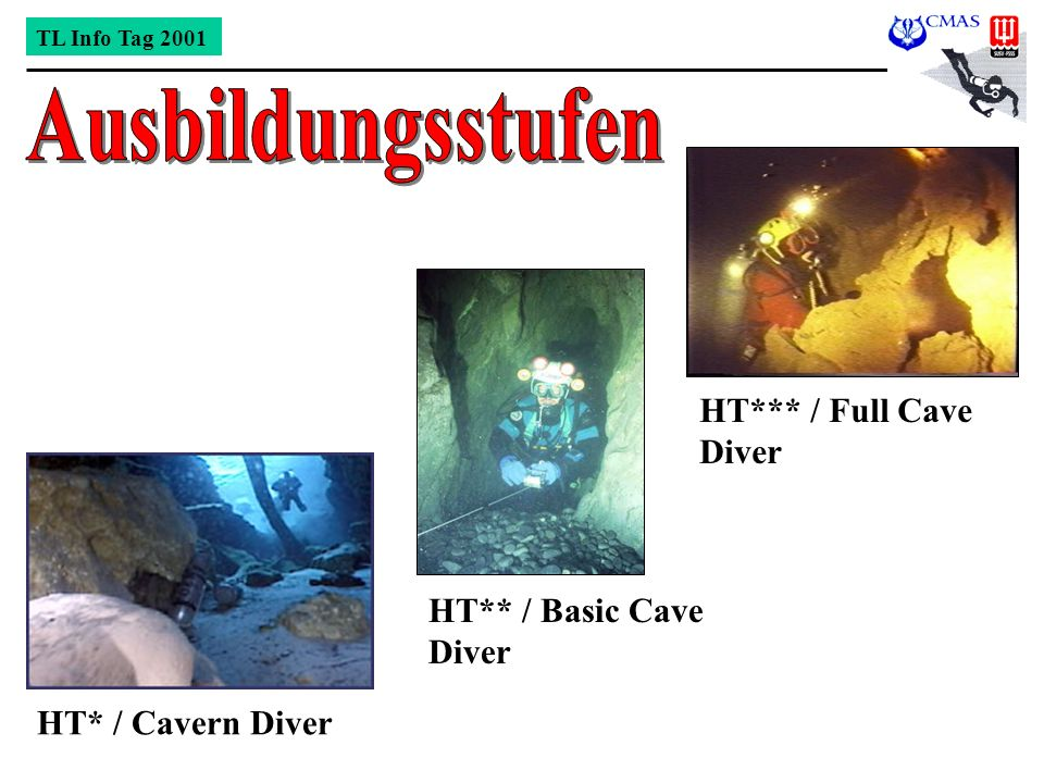 HT*** / Full Cave Diver HT** / Basic Cave Diver HT* / Cavern Diver TL Info Tag 2001
