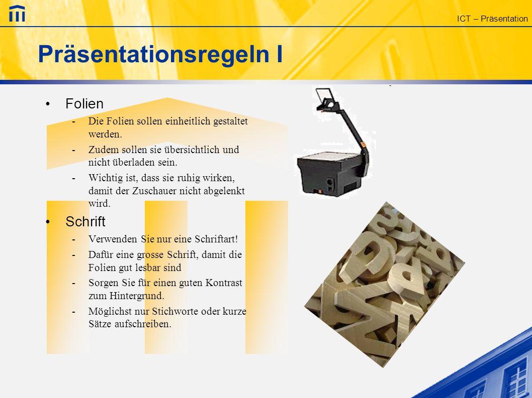 ICT – Modul Präsentation Gymnasium Kirchenfeld Sebastian Forster Thomas Jampen