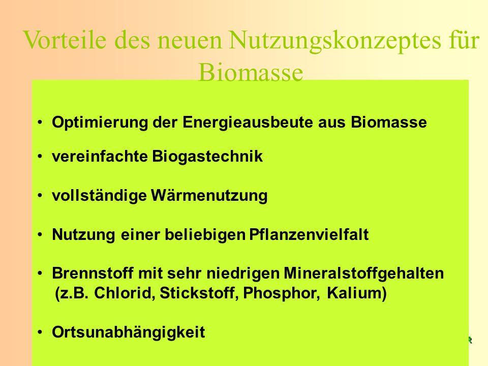 K. Scheffer EUROSOLAR 2008 K. Scheffer EUROSOLAR 2008 Optimierung der Energieausbeute aus Biomasse vereinfachte Biogastechnik vollständige Wärmenutzun