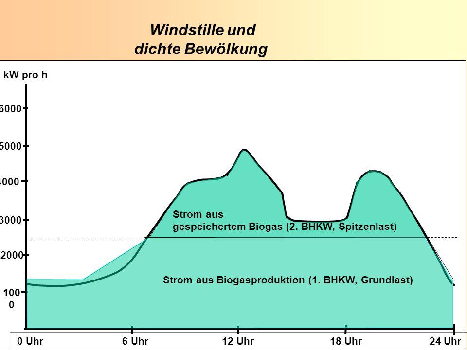 K. Scheffer EUROSOLAR 2008 K. Scheffer EUROSOLAR 2008 100 0 2000 3000 4000 5000 6000 0 Uhr 6 Uhr 12 Uhr 18 Uhr 24 Uhr kW pro h Windstille und dichte B