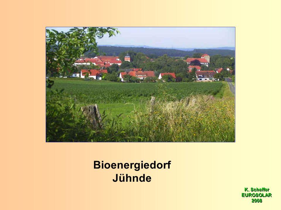 K. Scheffer EUROSOLAR 2008 K. Scheffer EUROSOLAR 2008 Bioenergiedorf Jühnde
