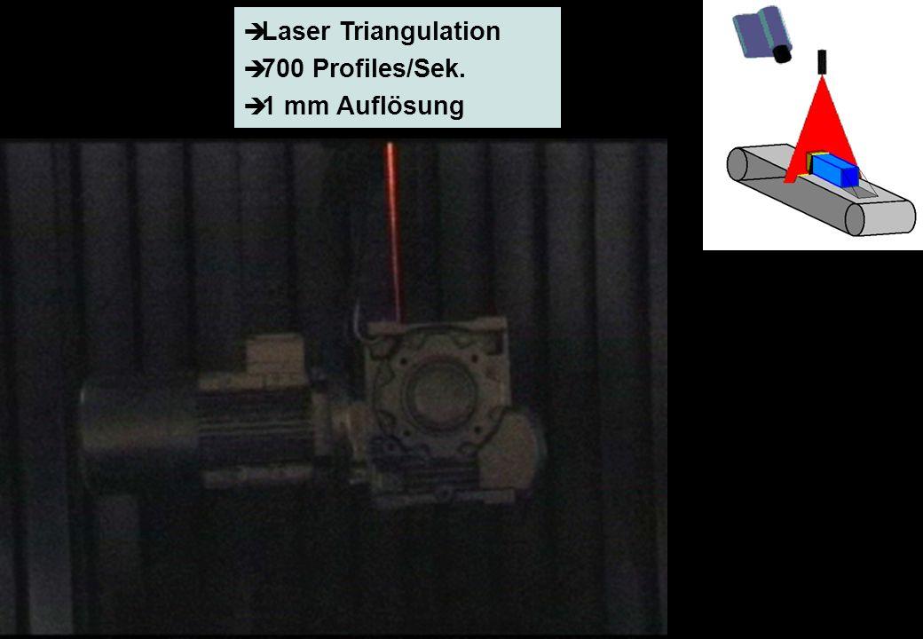 FlexPaint Präsentation (deutsch), Seite 6 © PROFACTOR, 2002 Laser Triangulation 700 Profiles/Sek. 1 mm Auflösung